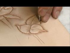 ▶ Carving a Leathercraft Leaf - Part 6 Final - YouTube