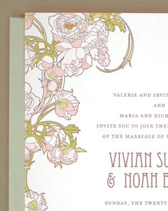 vintage inspired invites, love the typography