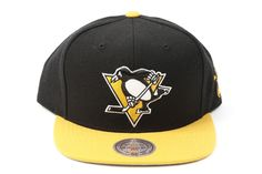 promo code 8eb9d 3de8d Pittsburgh Penguins Mitchell   Ness NHL Black Throwback Vintage Snap back  Hat