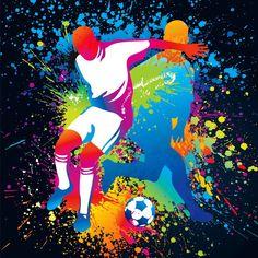 Football players with a soccer ball Wall Mural Soccer Pro, Soccer Gear, Soccer Drills, Soccer Ball, Soccer Games, Soccer Snacks, Soccer Scores, Arsenal Soccer, Garter