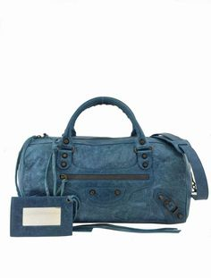 c1ed12bc82 Consigned Designs | Balenciaga Handbag | Lambskin Leather Motorcycle Twiggy  Bag Blue #Balenciaga
