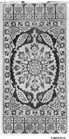 Panel  Date:     17th century Geography:     Turkey, Bursa Culture:     Islamic Medium:     Silk, metal wrapped thread; cut and voided velvet