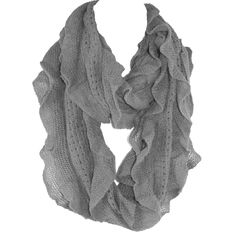 Elegant Gray Soft Woven Infinity Loop Figure Eight Endless Scarf Wrap   One of the popular items of this season, the Infinity Scarf is an easy wrap for a cool evening or a great color accent.. Elegant wrap for a cool evening or a color accent, our Shawl Scarf Wrap is made of wool blended with viscose. Unique understated woven ruffle design pattern allows to wear it as a scarf over you  sweater or suit, a luxurious addition to an evening dress, or just the classic light wr...