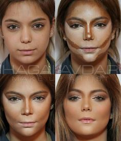 Tolle augen I'm My personal opinion this young lady looks way prettier without the makeup in… Nose Contouring, Contour Makeup, Contouring And Highlighting, Skin Makeup, Makeup Brush, Beauty Make-up, Beauty Hacks, Beauty Tips, Makeup Inspo