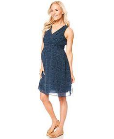 4e52cfa4146a7 Motherhood Maternity Sleeveless V-Neck Printed Dress & Reviews - Maternity  - Women - Macy's