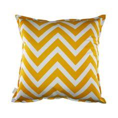 Cushion: Yellow Chevron and Cross
