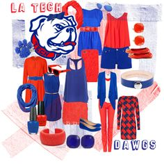 Louisiana Tech Game Day - I know this isn't food but such cute tailgating outfits!
