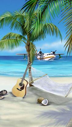 Caribbean Island Resort. Looks very Jimmy Buffett.