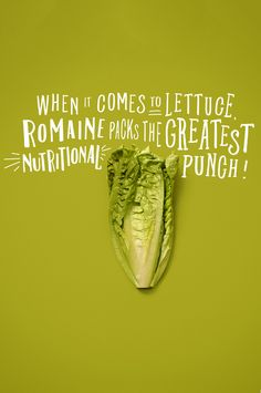 when it comes to #lettuce, romaine packs the greatest nutritional punch! #nutrition