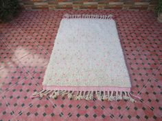 Your place to buy and sell all things handmade Creme Bio, Motifs Roses, Moroccan Berber Rug, Hallway Runner, Beni Ourain, Wool Carpet, Handmade Rugs, The 100, Bohemian Rug