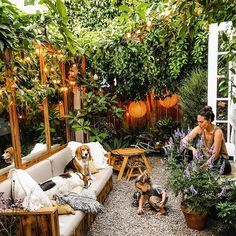 Before + After: The Cottage Back Patio — The Tiny Canal Cottage 1994 Small Garden Design, Patio Design, E Design, Back Patio, Backyard Patio, Backyard Landscaping, Patio Roof, Landscaping Ideas, Small Courtyard Gardens