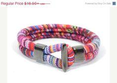 SALE ethnic bracelet for women * ethnic woven bracelet * gift for girlfriend * fuscia aztec bracelet * surfer bracelet * gift for teens #leatherjewelry #leatherring