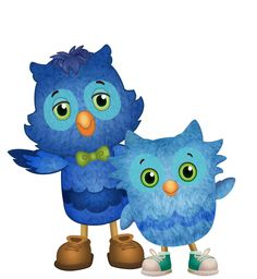 X the Owl and O the Owl from Daniel Tiger's Neighborhood