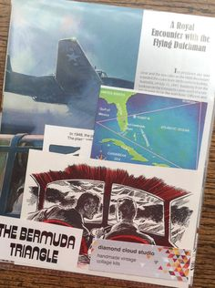 The Bermuda Triangle Vintage  Collage and by diamondcloudstudio