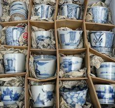Blue and white Imari....