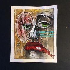Face Art, Art Faces, Modern Art Paintings, Various Artists, Mixed Media Art, Peace And Love, Art Drawings, Abstract Art, Ink