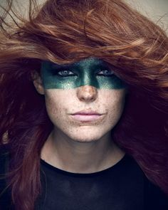 green mask on freckles