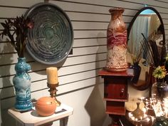 A variety of my work at my shared studio space in downtown St. Cloud, MN (2013) ~ Ken Ferber