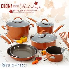 Get inspired to prepare family meals for the holidays with the NEW Rachael Ray Cucina Collection. ENTER TO WIN a Rachael Ray Cucina 12-Piece Cookware set, plus bonus prizes, in our Cucina Holidays #Giveaway! Click on the image to enter.