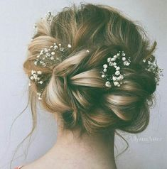 Romantic Updo  #romantic #flowers #hairstyle #UpdosRomantic