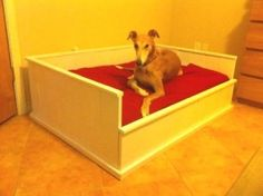 farmhouse dog bed by lorene