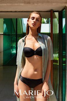 Marie Jo l'Aventure Spring-summer 2016 - Lingerie Beautiful Lingerie, New Item, Black Bikini, Spring Summer 2016, Women Lingerie, Bikinis, Swimwear, Marie, Lust