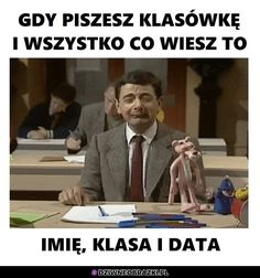 Ten moment Very Funny Memes, Wtf Funny, Funny Cute, Funny Lyrics, Polish Memes, Weekend Humor, Funny Mems, School Memes, Pranks