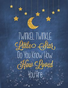 Twinkle Twinkle Little Star | Do You Know How Loved You Are | CANVAS WRAPPED PRINT This canvas is a fun and cute addition to any child's bedroom! This piece will arrive stretched and ready to hang.