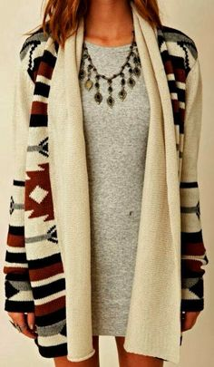 Amazing Colorful Aztec Cardigan for Ladies