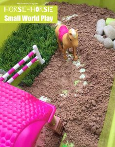 Horsie Horsie Small World Play A fun small world activity for toddlers, preschoolers, kindergartners to go with the rhyme Horsie Horsie!