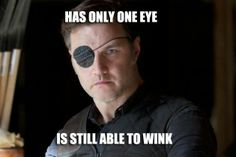 The Walking Dead's Governor demonstrates the one eye wink #zombie #zombies #funny #meme