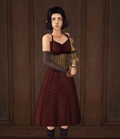 Amaryll's Corset Dress with robot arm | deedee-sims
