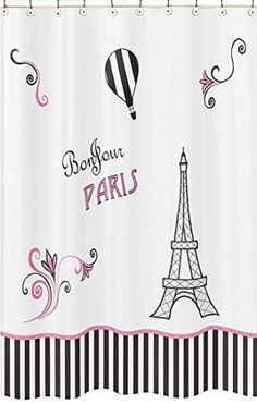 Paris Kids Bathroom Fabric Bath Shower Curtain * Details can be found by clicking on the image.