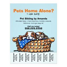 Pet Sitter Sitting Personalized Tear Sheet Dog Walking Business Houses