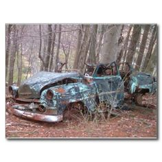 Old Blue (Junker car) Post Cards!  All these #postcards were made from #photos taken in #West #Virginia!  They are the perfect size to #frame, or send to a friend!  Please visit www.zazzle.com/dww25921*  for more #products!