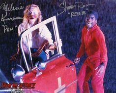 "Melanie Kinnaman & Shavar Ross Hand-Signed Friday the 13th Part 5 Color Photo - ""Pam & Reggie Scream"""