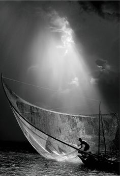 Catching those early light waves with a big net!  Works everytime!  (Photo by: Nick Brandt)