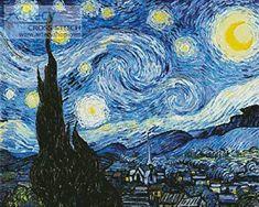 The Starry Night Blue - cross stitch pattern designed by Tereena Clarke. Category: Scenery.