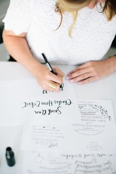 Behind the Stationery: Illustrated and Hand Painted Letterpress Stationery from Printerette Press / Oh So Beautiful Paper