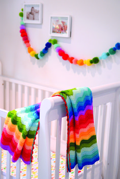 Crochet Rainbow Blanket ==