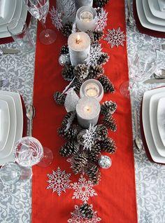 Winter land centerpiece #winterwedding #christmaswedding