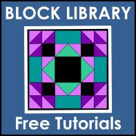 Block Library - Free Quilt Block Tutorials  Fat Quater Quilting Gallery and Resources