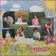 Spring Scrapbook Layouts | Spring Scrapbook Layout Ideas