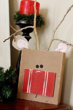 DIY Reindeer Block