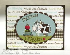 Moochas grassias by SophieLaFontaine - Cards and Paper Crafts at Splitcoaststampers