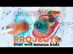 chemistry projects that will amaze kids and foster a love of this branch of science! These would be great science fair projects! Chemistry Projects, Cool Science Fair Projects, Science Crafts, Science Party, Projects For Kids, Science Experiments For Preschoolers, Teaching Science, Science For Kids, Science Ideas