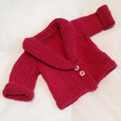 DIY Baby Sophisticate cardigan in pink /by essulainen.  Pattern: http://stockinette.wordpress.com/2009/04/06/baby-sophisticate/