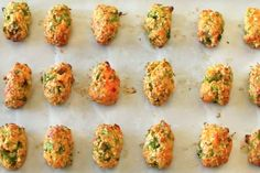 Bake in a 400°F oven for 25 to 30 minutes, turning the pan halfway through. They're done when they're golden brown. | Here's A Veggie-Filled Snack Even Picky Eaters Will Love