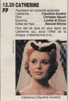 """Claudine Ancelot - """"Catherine"""" (1986) - 60 Episodes Image Film, Films, Movies, 1980s, Costumes, Movie Posters, French Actress, Dress Up Clothes, Fancy Dress"""