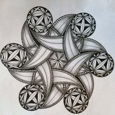 Better Late than Never – Tangled Up In Art Doodle Art Drawing, Zentangle Drawings, Mandala Drawing, Zentangle Patterns, Zentangles, Mandala Art Lesson, Mandala Artwork, Mandala Tattoo Design, Tattoo Designs